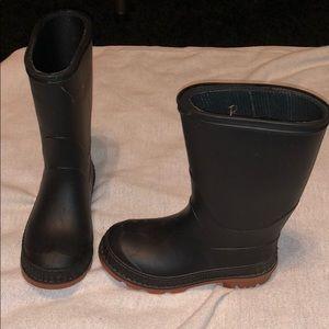 Black rain boots size 9-10